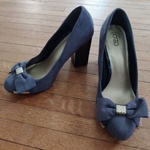 Cato Suede Bow Heels